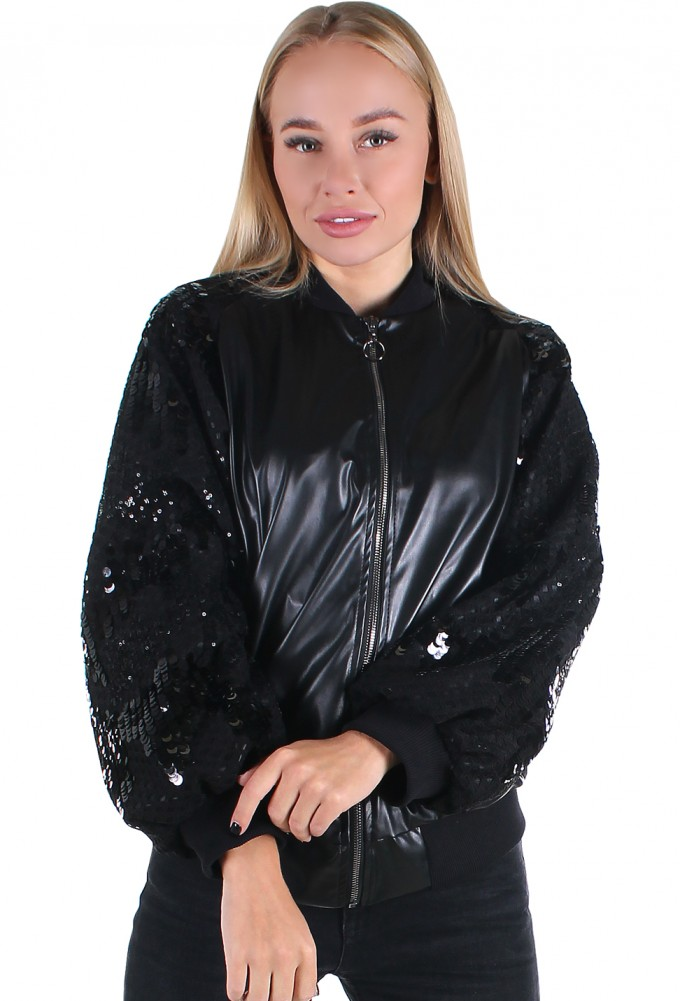 бомбер женский <br> SLEEVE SEQUIN